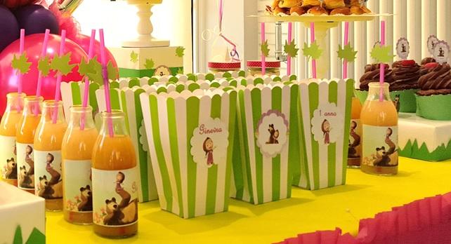 Festa a tema masha e orso bolle eventi eventi for Piatti e bicchieri per feste bambini